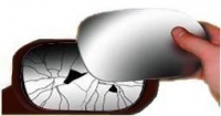 BMW X3 [10-13] Stick on Wing Mirror Glass