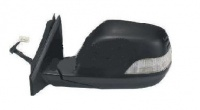 Honda CRV [07-13] Complete Electric Adjust & Heated Wing Mirror Unit with Indicator - Black Paintable