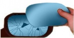 Alfa 146 [94-01] Self Adhesive Wing Mirror Glass (Blue Tinted)