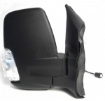 Ford Transit MK8 [2014 on] Complete Manual Wing Mirror Unit - Black (short arm)