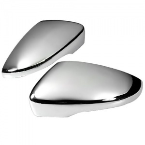 VW Jetta [2010 on] Chrome Upper Wing Mirror Covers - PAIR
