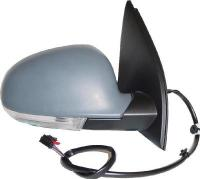 VW Passat 3C [05-10] Complete Power Folding Wing Mirror Unit with Puddle Lamp & Memory - Primed